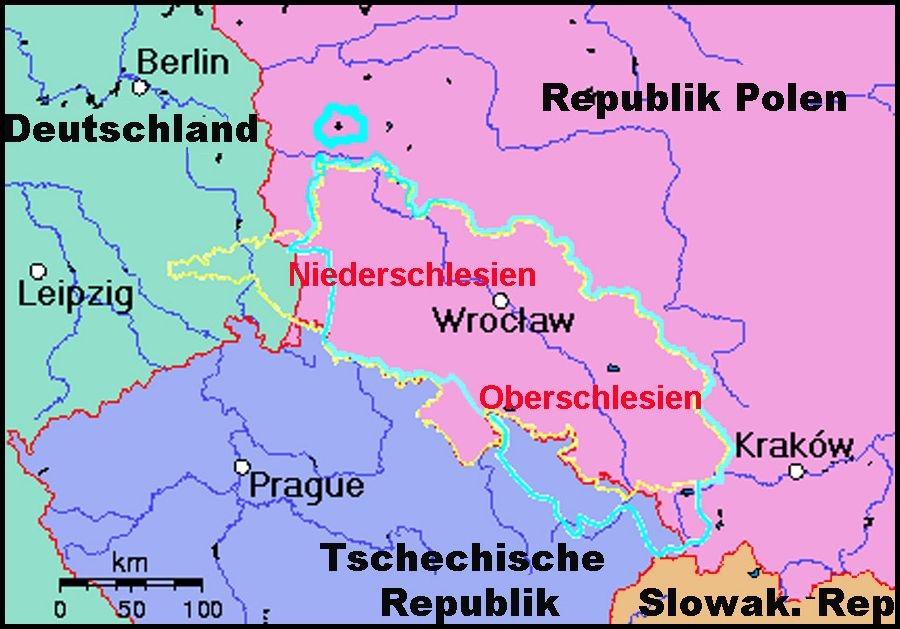 Schlesien Karte Heute.Polen Schlesien Landkarte Creactie
