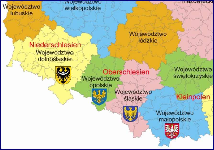 Polen Schlesien Karte.Polen Schlesien Landkarte Creactie