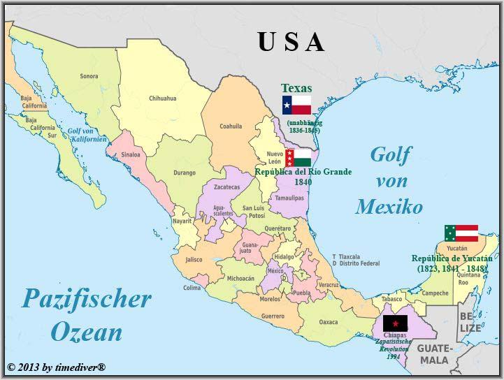 Mexiko Staaten Karte.Timediver Mexiko Indexseite