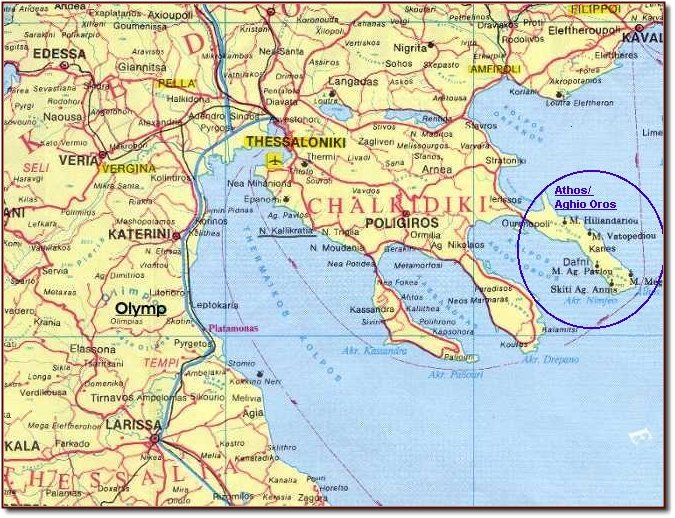 Meteora Klöster Karte.Athos Aghios Oros Geschichte Des Heiligen Berges Der Subhalbinsel